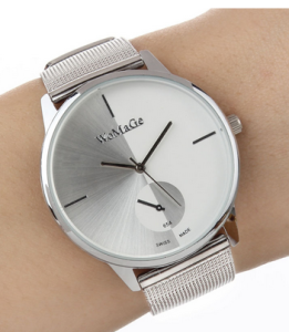 casual steel watch